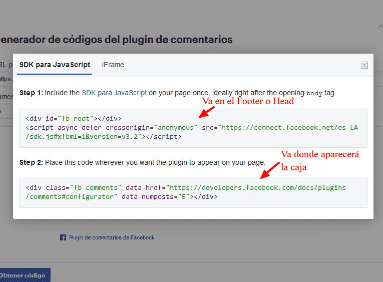 comentarios de facebook tutorial html