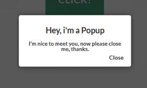 Responsive popup